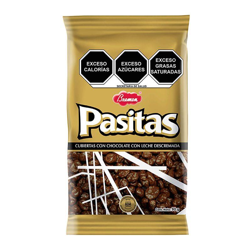 Pasitas con chocolate - Paquete con 3 bolsas de 90g c/u