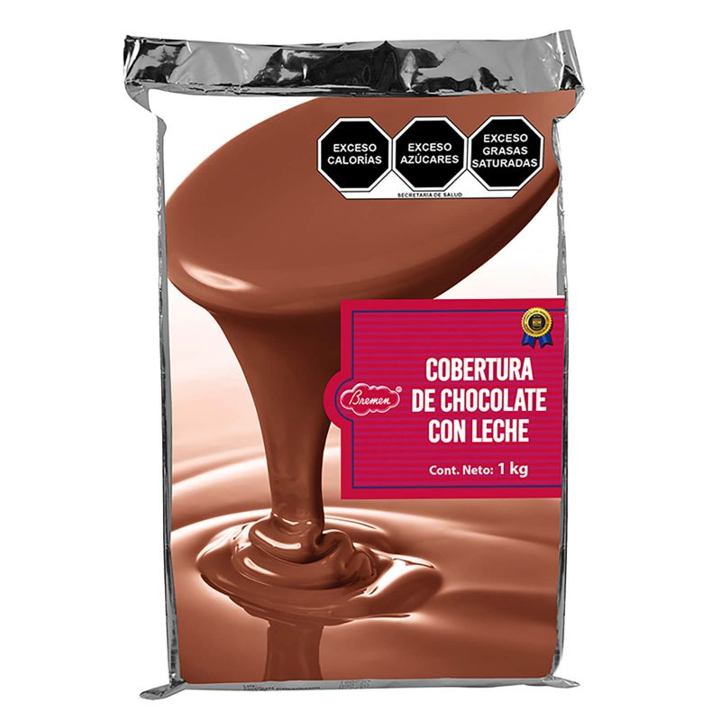 Cobertura de Chocolate de Leche - Marqueta con   1 kg